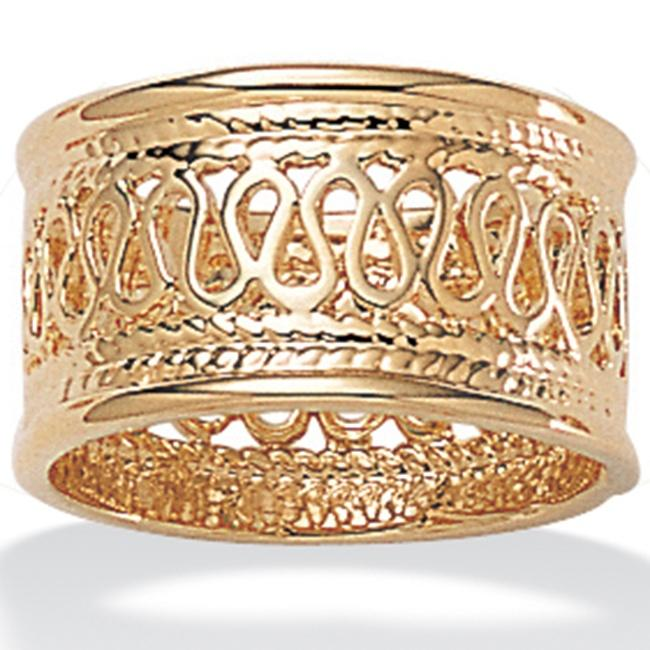 PalmBeach Open Weave Decorative Ring in 14k Gold-Plated Tailored