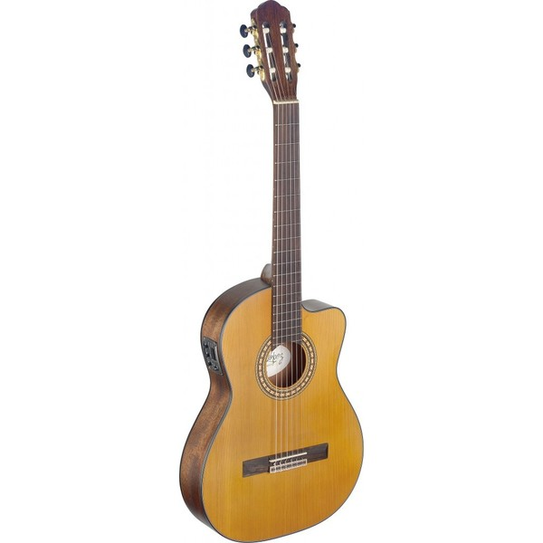 Angel Lopez SIL-TCE M Silvera Series Mahogany/Rosewood Thin Body Cutaway Acoustic-Electric Classical Guitar