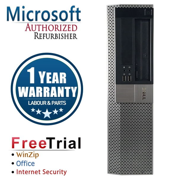 Refurbished Dell OptiPlex 960 Desktop Intel Core 2 Duo E8400 3.0G 4G DDR2 1TB DVDRW Win 7 Pro 64 Bits 1 Year Warranty - Black