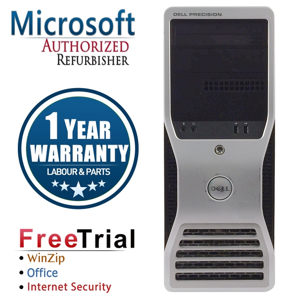 Refurbished Dell Precision T5500 Tower Xeon E5504 2.0G 4G DDR3 500G DVD NVS295 Win 10 Pro 1 Year Warranty - Black